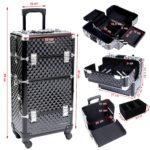 Compartimentos maleta profesional de maquillaje